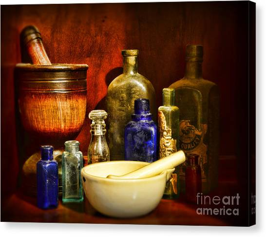 Ward Canvas Print - Apothecary - Tools Of The Pharmacist by Paul Ward