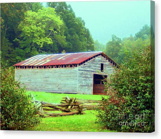 Appalachian Livestock Barn Canvas Print