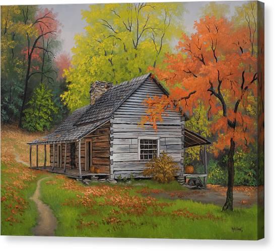 Appalachian Retreat-autumn Canvas Print