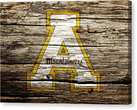 Sun Belt Canvas Print - Appalachian State Mountaineers 1a by Brian Reaves