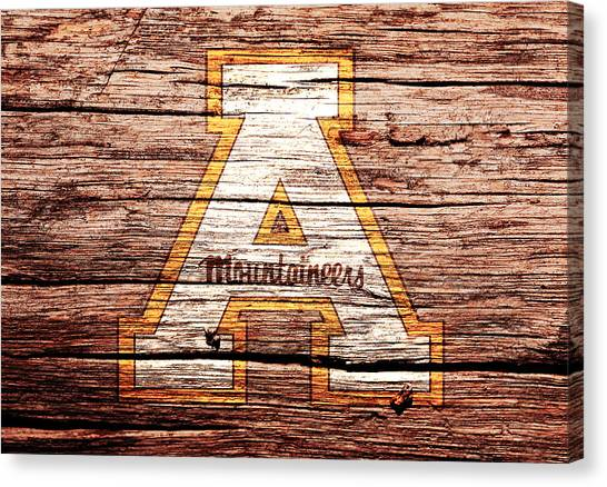 Walter Payton Canvas Print - Appalachian State Mountaineers by Brian Reaves