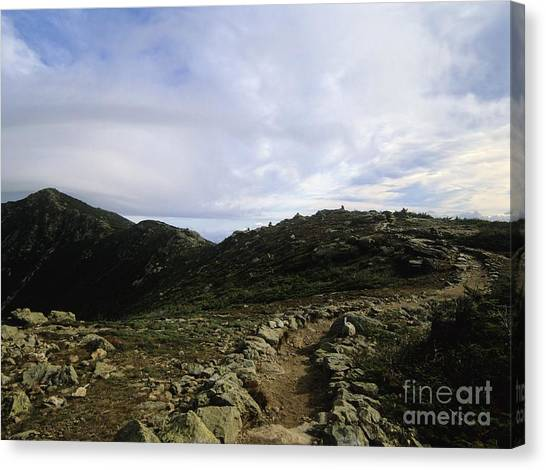 Appalachian Trail - Mount Lincoln - White Mountains New Hampshire Usa Canvas Print