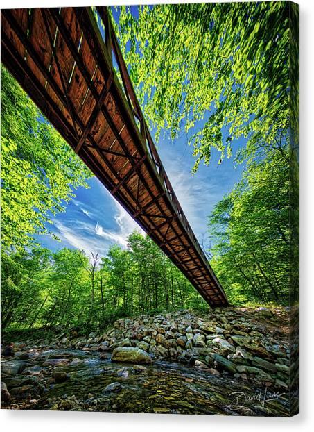 Canvas Print featuring the photograph Appalachian Trail Foot Bridge by David A Lane