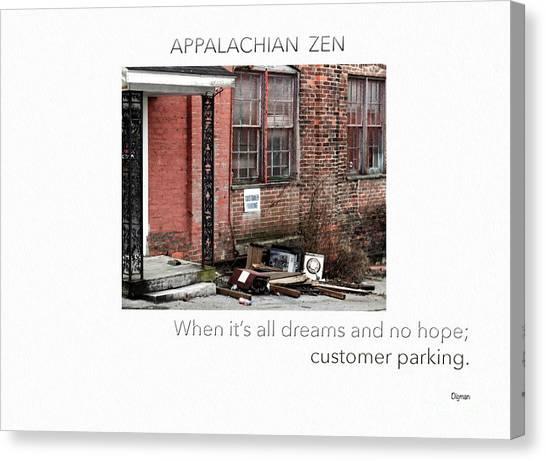 Appalachian Zen Canvas Print by Steven Digman