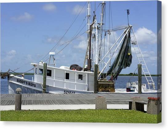 Appalachicola Shrimp Boat Canvas Print