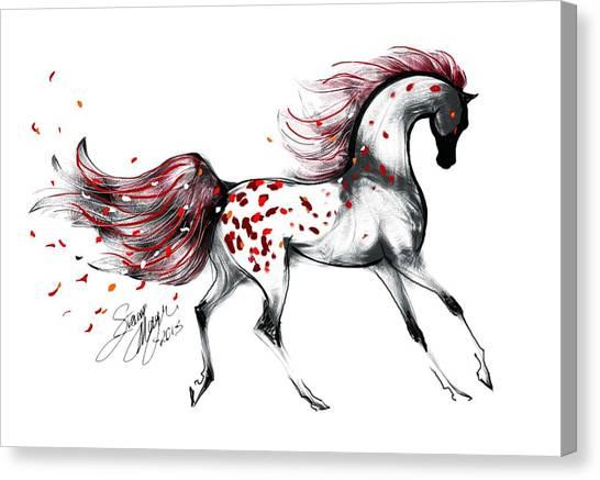 Appaloosa Rose Petals Horse Canvas Print
