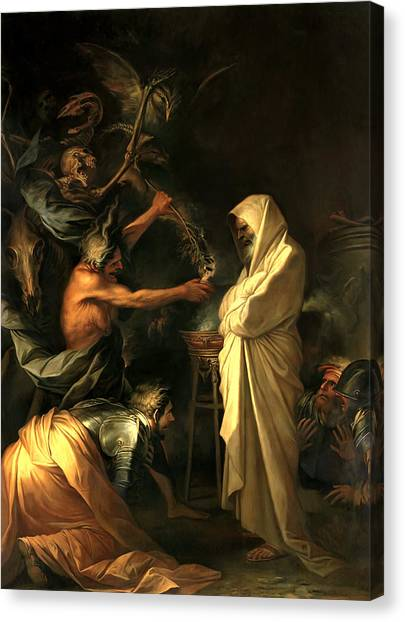 Apparition Canvas Print - Apparition Of The Spirit Of Samuel To Saul by Salvator Rosa