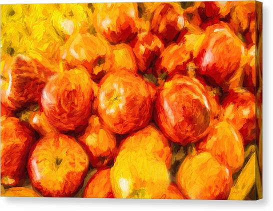 Apple A Day - Impressionism Canvas Print by Barry Jones