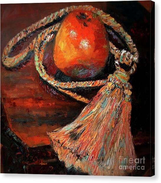 Apple And Tassel Still Life Oil Painting Canvas Print