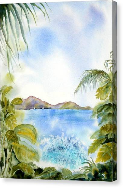 Apple Bay Wave Canvas Print