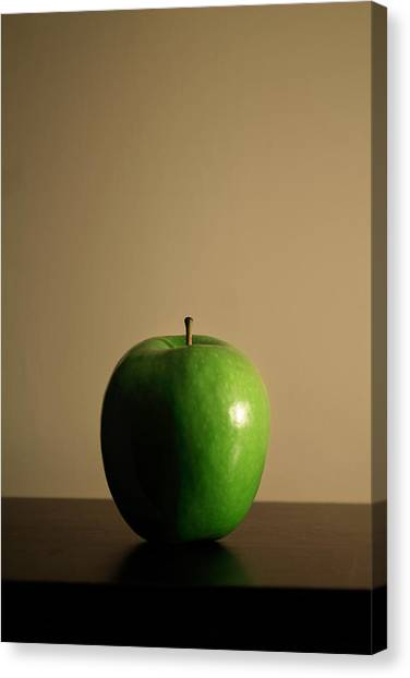 Canvas Print featuring the photograph Apple by Break The Silhouette