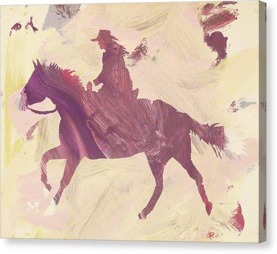 Apple Cowgirl Canvas Print