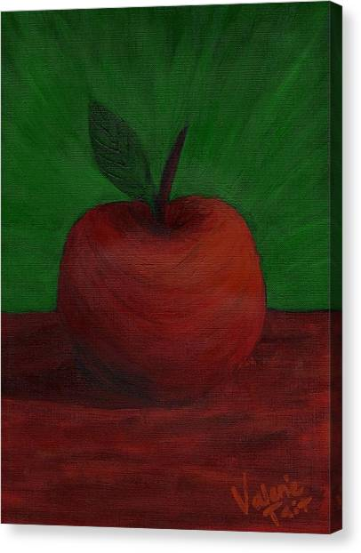 Apple Of My Eye Canvas Print by Valerie Tait
