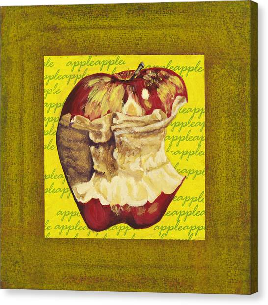 Apple Series Number Five Canvas Print by Sonja Olson