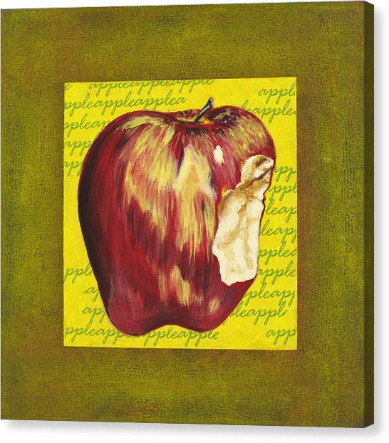 Apple Series Number Two Canvas Print by Sonja Olson