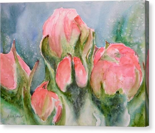 Apple Tree Buds Canvas Print