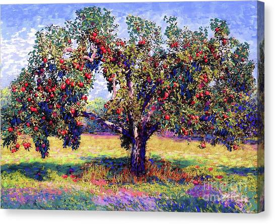 Apples Canvas Print - Apple Tree Orchard by Jane Small