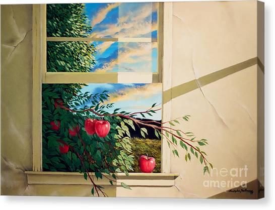Apple Tree Overflowing Canvas Print