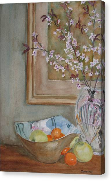 Clemontines Canvas Print - Apples And Oranges by Jenny Armitage