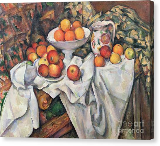 1900 Canvas Print - Apples And Oranges by Paul Cezanne