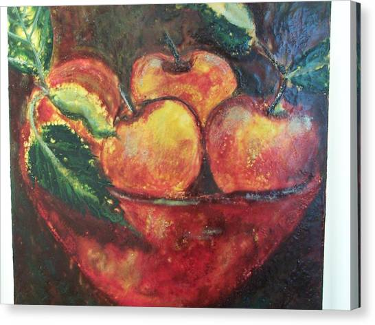 Apples Canvas Print by Karla Phlypo-Price