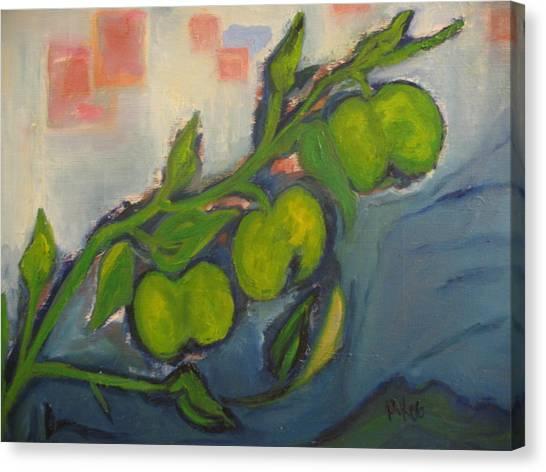 Apples Canvas Print by Maria  Kolucheva