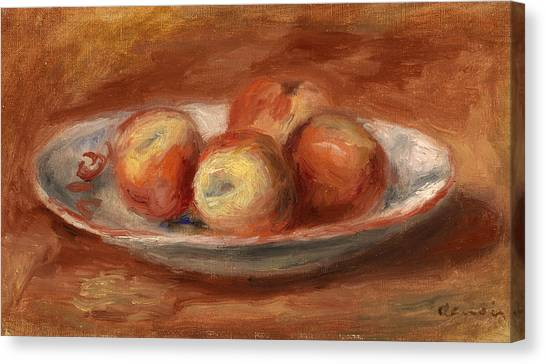 Fruit Baskets Canvas Print - Apples by Pierre-Auguste Renoir