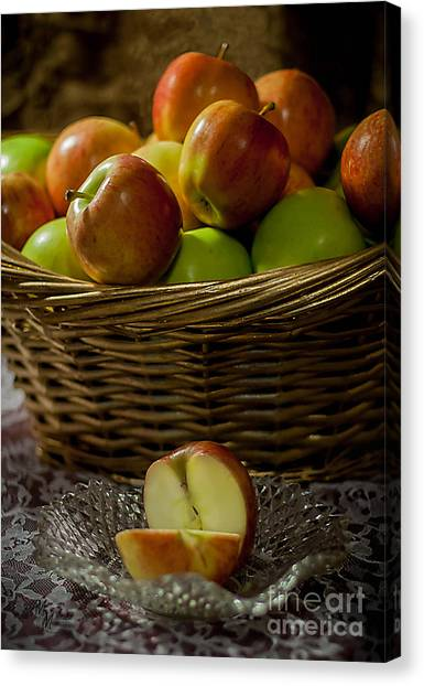 Apples To Share Canvas Print