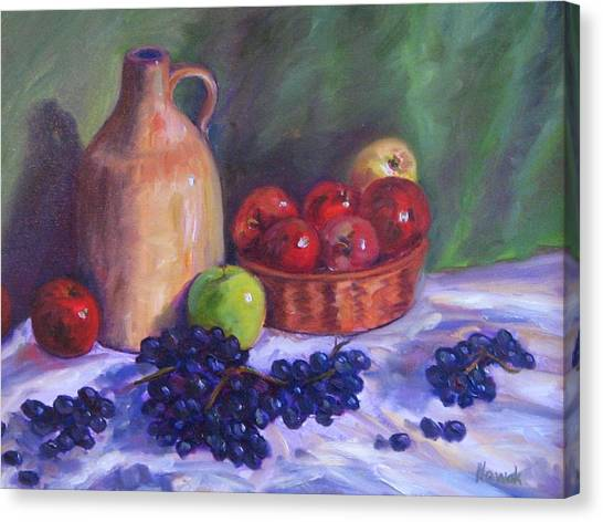 Apples With Grapes Canvas Print by Richard Nowak