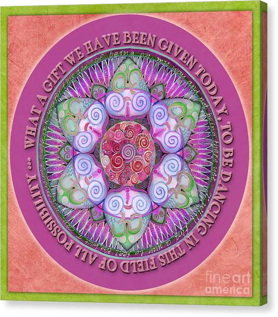Appreciation Mandala Prayer Canvas Print