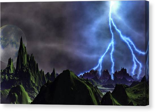 Approaching Storm Canvas Print by David Jackson