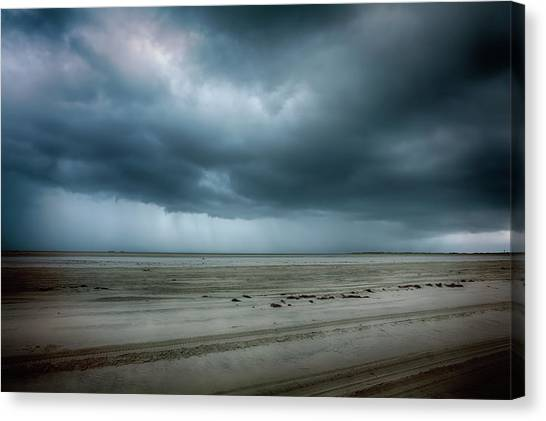 Carolina Hurricanes Canvas Print - Approaching Storm On Ocracoke Outer Banks by Dan Carmichael