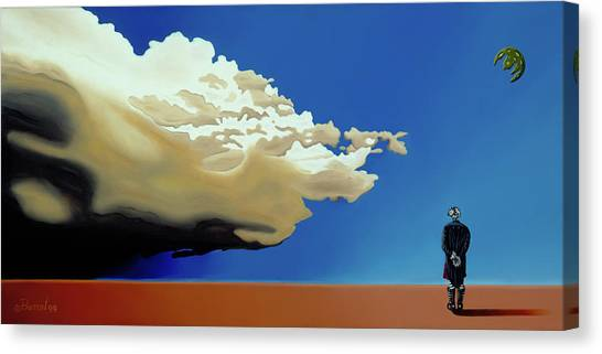Canvas Print featuring the painting Approaching Storm by Paxton Mobley