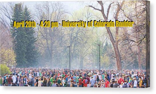 University Of Colorado Canvas Print - April 20th - University Of Colorado Boulder by James BO  Insogna
