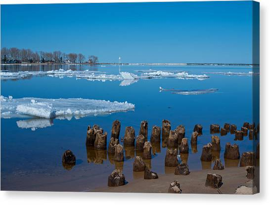 April Ice Canvas Print