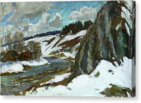 Ural Mountains Canvas Print - April In Kin by Juliya Zhukova