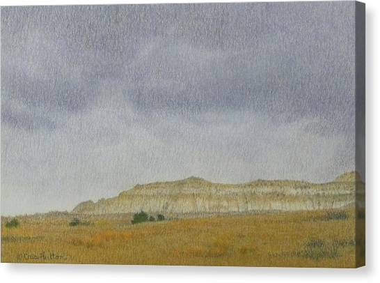 April In The Badlands Canvas Print