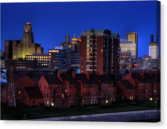 April Nighttime Canvas Print by Don Nieman