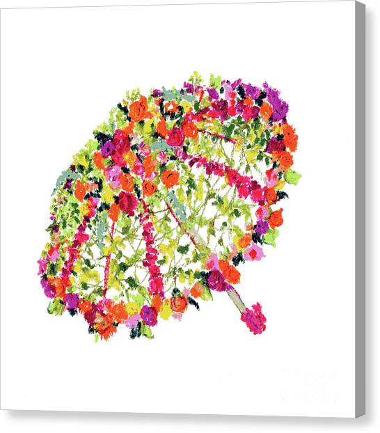 Canvas Print featuring the pastel April Showers Bring May Flowers by Lauren Heller