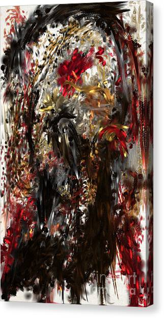 Canvas Print featuring the digital art April Skull by Reed Novotny