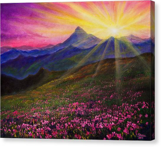 Bob Ross Canvas Print - April Sunset by Chris Steele