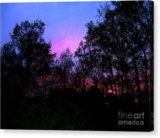 April Sunset Canvas Print