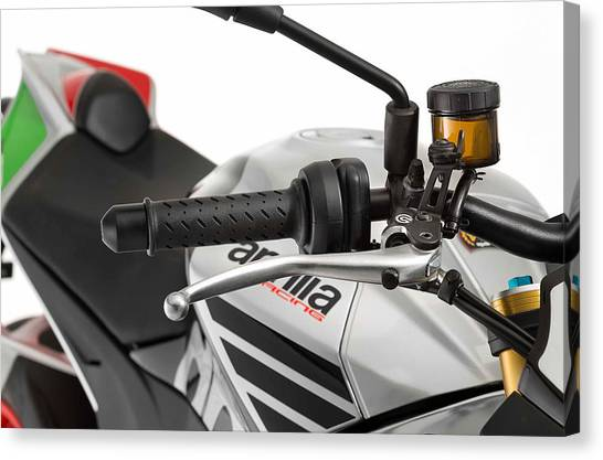 Microphones Canvas Print - Aprilia Tuono V4 1100 Factory by Jackie Russo