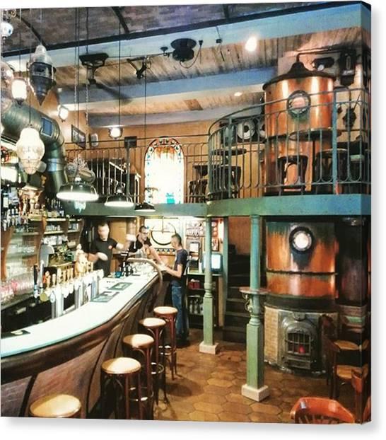 Distillery Canvas Print - Apéro Stop. #beer #distillery by Tiffany Marchbanks