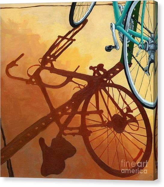 Aqua Angle Canvas Print