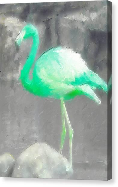 Canvas Print - Aqua Flamingo by Modern Art