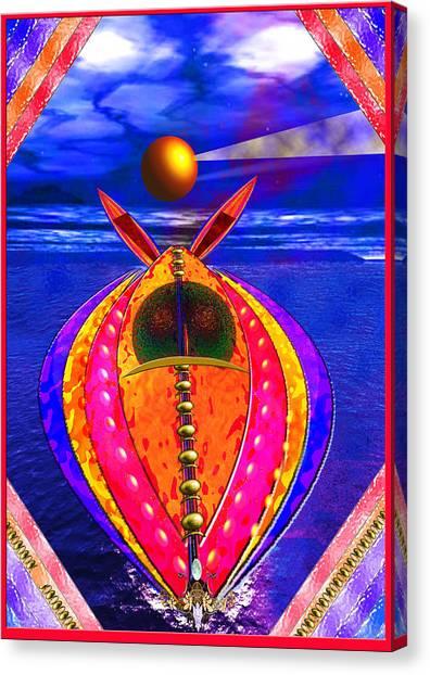Aqua Jet Canvas Print by Peter Jenkins
