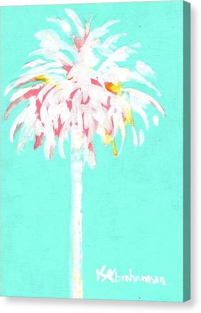Aqua Marine Palm Canvas Print