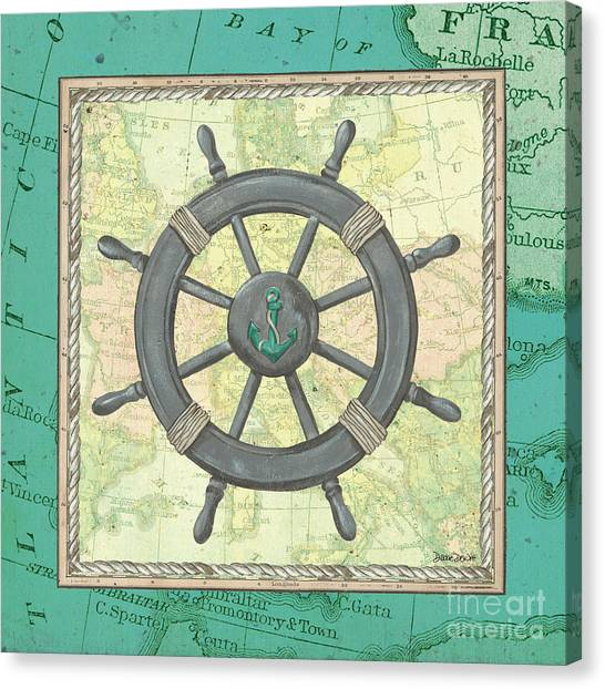 Sailors Canvas Print - Aqua Maritime by Debbie DeWitt