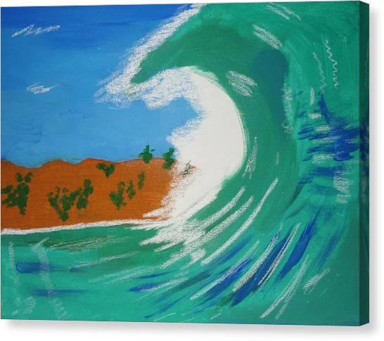 Aqua Passions Canvas Print